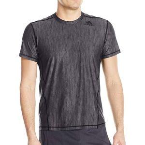 Mens Training Sports Heather Tee Shirt Green Black